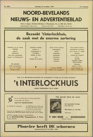 Noord-Bevelands Nieuws- en advertentieblad 1957-11-23