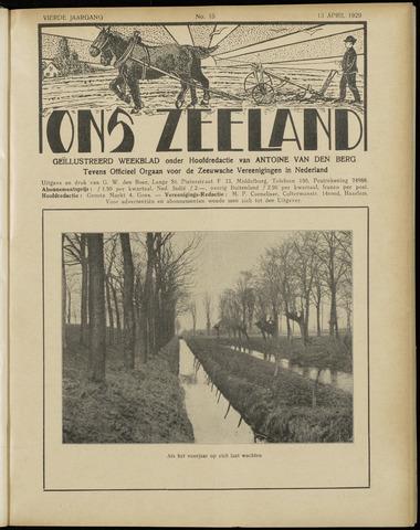 Ons Zeeland / Zeeuwsche editie 1929-04-13