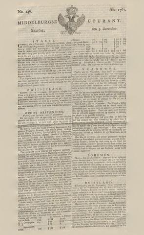 Middelburgsche Courant 1761-12-05