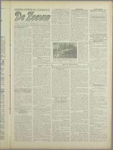 De Zeeuw. Christelijk-historisch nieuwsblad voor Zeeland 1943-02-18