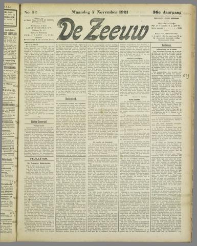 De Zeeuw. Christelijk-historisch nieuwsblad voor Zeeland 1921-11-07