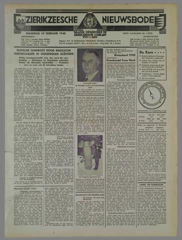 Zierikzeesche Nieuwsbode 1940-02-19