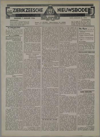 Zierikzeesche Nieuwsbode 1936-01-07