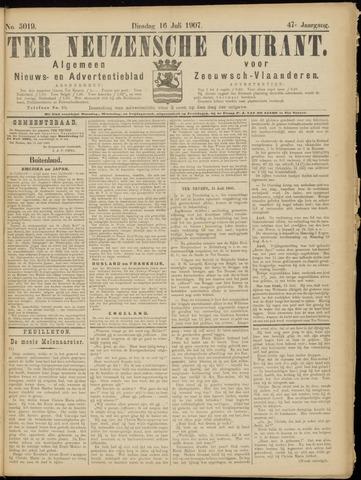 Ter Neuzensche Courant. Algemeen Nieuws- en Advertentieblad voor Zeeuwsch-Vlaanderen / Neuzensche Courant ... (idem) / (Algemeen) nieuws en advertentieblad voor Zeeuwsch-Vlaanderen 1907-07-16