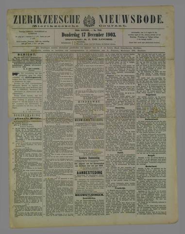 Zierikzeesche Nieuwsbode 1903-12-17