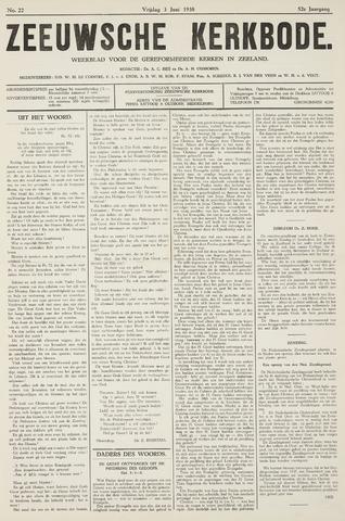 Zeeuwsche kerkbode, weekblad gewijd aan de belangen der gereformeerde kerken/ Zeeuwsch kerkblad 1938-06-03