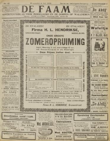de Faam en de Faam/de Vlissinger 1923-07-04