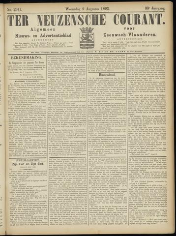 Ter Neuzensche Courant. Algemeen Nieuws- en Advertentieblad voor Zeeuwsch-Vlaanderen / Neuzensche Courant ... (idem) / (Algemeen) nieuws en advertentieblad voor Zeeuwsch-Vlaanderen 1893-08-09