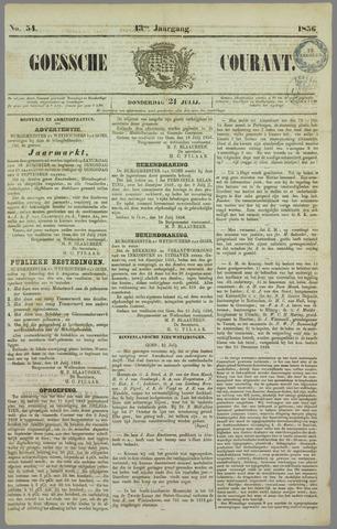 Goessche Courant 1856-07-21