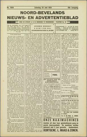 Noord-Bevelands Nieuws- en advertentieblad 1934-06-23