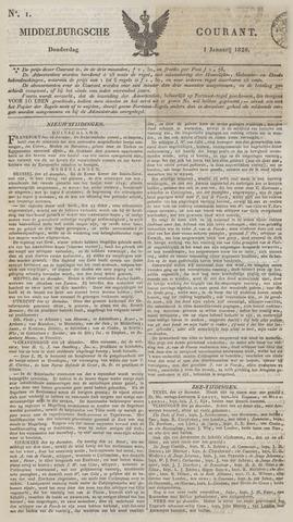 Middelburgsche Courant 1829