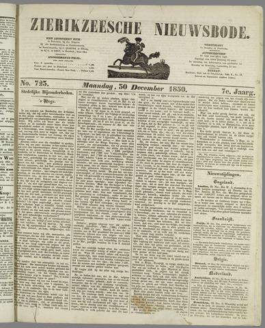 Zierikzeesche Nieuwsbode 1850-12-30