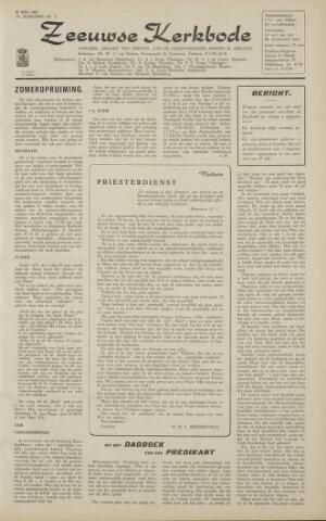 Zeeuwsche kerkbode, weekblad gewijd aan de belangen der gereformeerde kerken/ Zeeuwsch kerkblad 1962-07-20