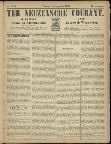 Ter Neuzensche Courant. Algemeen Nieuws- en Advertentieblad voor Zeeuwsch-Vlaanderen / Neuzensche Courant ... (idem) / (Algemeen) nieuws en advertentieblad voor Zeeuwsch-Vlaanderen 1885-09-19