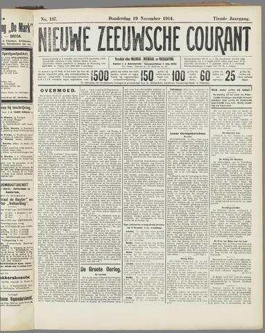 Nieuwe Zeeuwsche Courant 1914-11-19