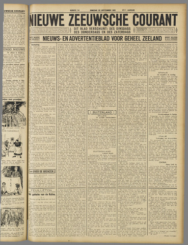 Nieuwe Zeeuwsche Courant 1931-09-29