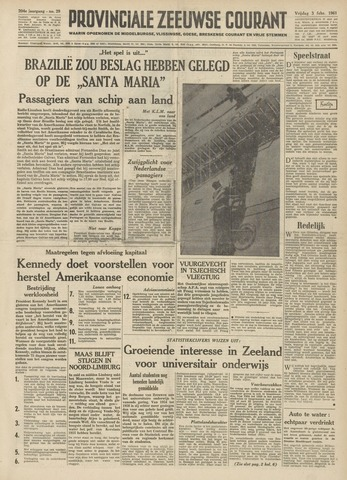 Provinciale Zeeuwse Courant 1961-02-03