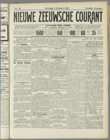 Nieuwe Zeeuwsche Courant 1916-02-05