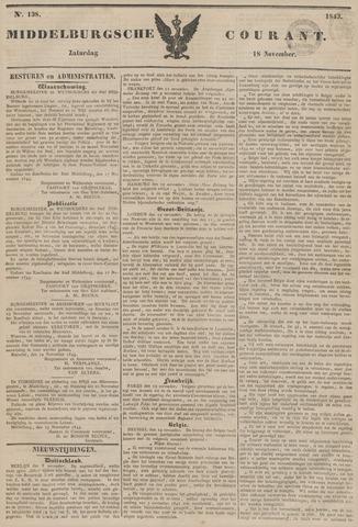 Middelburgsche Courant 1843-11-18