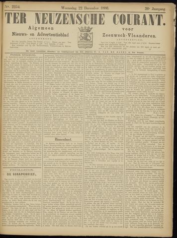Ter Neuzensche Courant. Algemeen Nieuws- en Advertentieblad voor Zeeuwsch-Vlaanderen / Neuzensche Courant ... (idem) / (Algemeen) nieuws en advertentieblad voor Zeeuwsch-Vlaanderen 1886-12-22