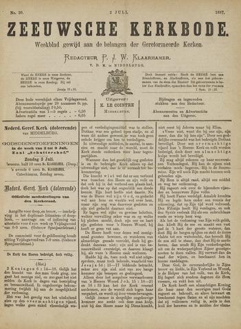 Zeeuwsche kerkbode, weekblad gewijd aan de belangen der gereformeerde kerken/ Zeeuwsch kerkblad 1887-07-02
