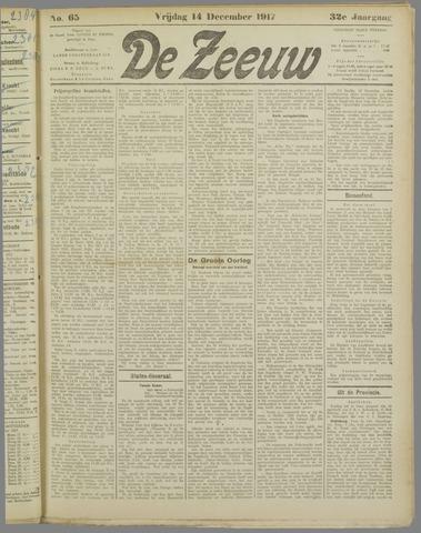 De Zeeuw. Christelijk-historisch nieuwsblad voor Zeeland 1917-12-14