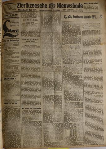 Zierikzeesche Nieuwsbode 1921-10-31