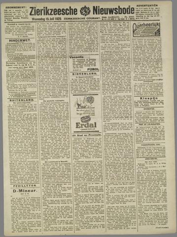 Zierikzeesche Nieuwsbode 1925-07-15