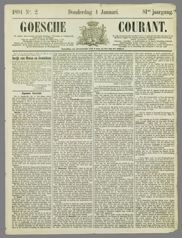 Goessche Courant 1894-01-04