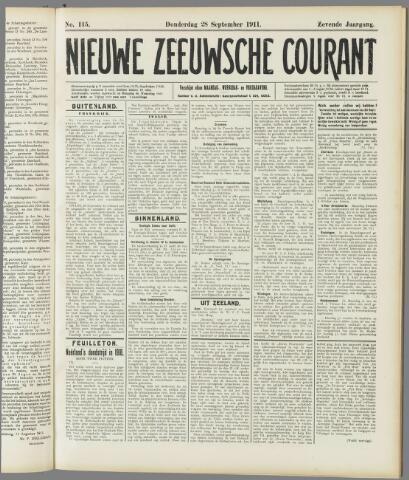 Nieuwe Zeeuwsche Courant 1911-09-28