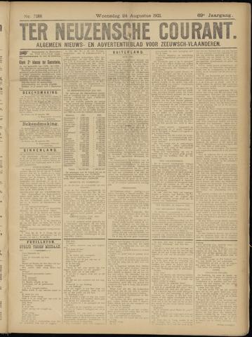 Ter Neuzensche Courant. Algemeen Nieuws- en Advertentieblad voor Zeeuwsch-Vlaanderen / Neuzensche Courant ... (idem) / (Algemeen) nieuws en advertentieblad voor Zeeuwsch-Vlaanderen 1921-08-24