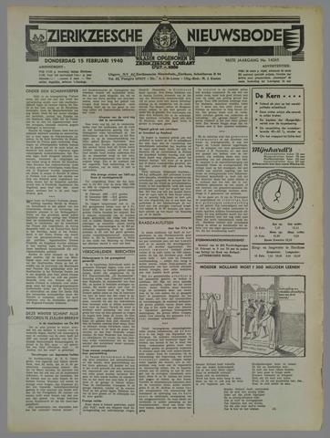 Zierikzeesche Nieuwsbode 1940-02-15
