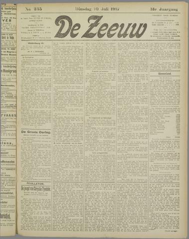 De Zeeuw. Christelijk-historisch nieuwsblad voor Zeeland 1917-07-10