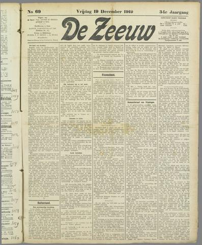 De Zeeuw. Christelijk-historisch nieuwsblad voor Zeeland 1919-12-19