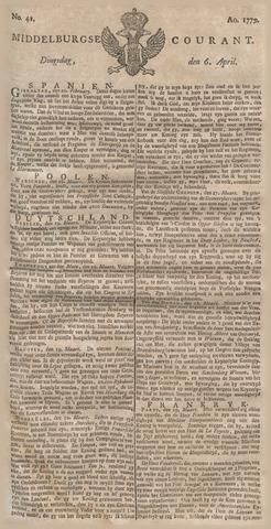 Middelburgsche Courant 1779-04-06