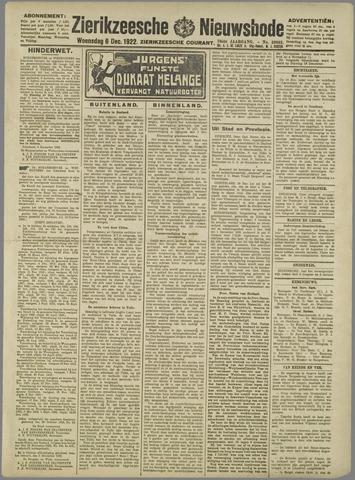 Zierikzeesche Nieuwsbode 1922-12-06