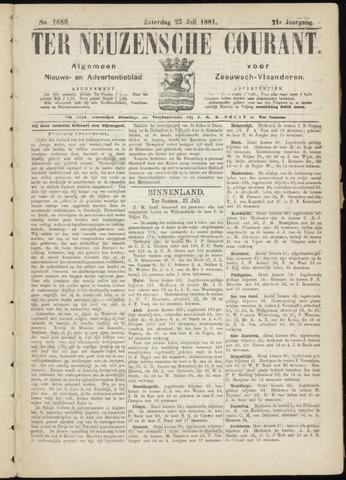 Ter Neuzensche Courant. Algemeen Nieuws- en Advertentieblad voor Zeeuwsch-Vlaanderen / Neuzensche Courant ... (idem) / (Algemeen) nieuws en advertentieblad voor Zeeuwsch-Vlaanderen 1881-07-23