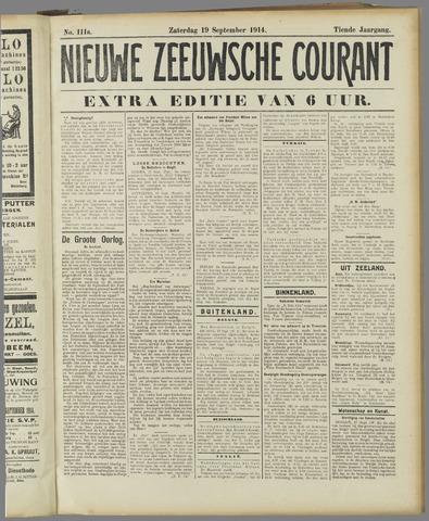 Nieuwe Zeeuwsche Courant 1914-09-19