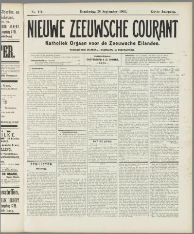 Nieuwe Zeeuwsche Courant 1905-09-28