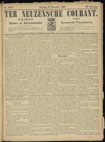 Ter Neuzensche Courant. Algemeen Nieuws- en Advertentieblad voor Zeeuwsch-Vlaanderen / Neuzensche Courant ... (idem) / (Algemeen) nieuws en advertentieblad voor Zeeuwsch-Vlaanderen 1892-12-17