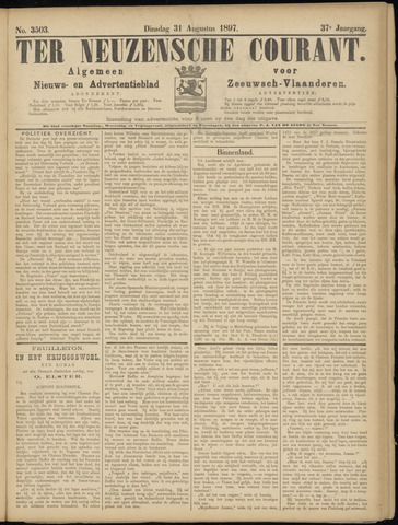 Ter Neuzensche Courant. Algemeen Nieuws- en Advertentieblad voor Zeeuwsch-Vlaanderen / Neuzensche Courant ... (idem) / (Algemeen) nieuws en advertentieblad voor Zeeuwsch-Vlaanderen 1897-08-31