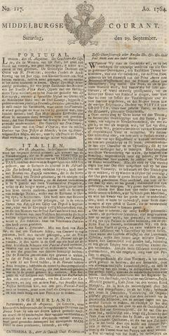 Middelburgsche Courant 1764-09-29