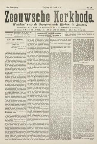 Zeeuwsche kerkbode, weekblad gewijd aan de belangen der gereformeerde kerken/ Zeeuwsch kerkblad 1915-06-25