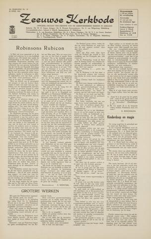Zeeuwsche kerkbode, weekblad gewijd aan de belangen der gereformeerde kerken/ Zeeuwsch kerkblad 1964-04-24