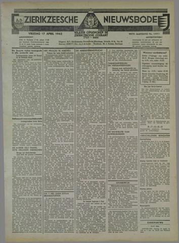 Zierikzeesche Nieuwsbode 1942-04-17