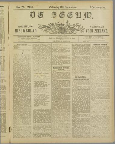 De Zeeuw. Christelijk-historisch nieuwsblad voor Zeeland 1905-12-30
