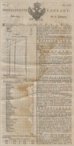 Middelburgsche Courant 1776-01-06