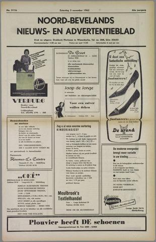 Noord-Bevelands Nieuws- en advertentieblad 1962-11-03