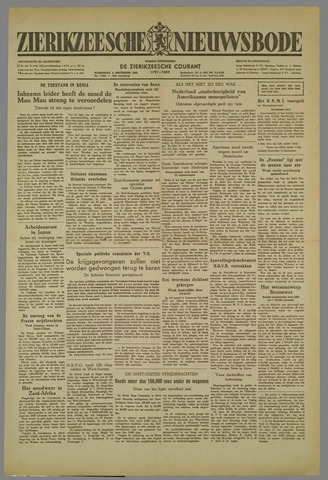 Zierikzeesche Nieuwsbode 1952-12-03