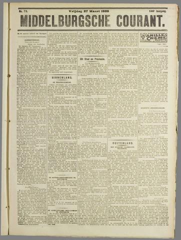 Middelburgsche Courant 1925-03-27